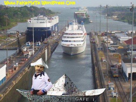 zETApé en el 'Gafe I' cruzando el Canal dePanamá